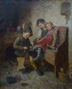 Adler, Edmund: Drei Kinder in der Küche