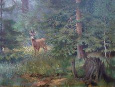 Reimann, Friedrich: Rehbock im Wald