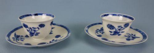 1 Paar Koppchen mit Unterteller, China, 18.Jh.