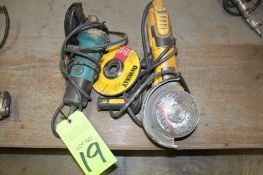 Lot of 2 Electric Right Angle Grinders