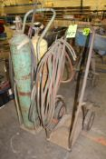 Lot of 2) Torch Cutting Carts & Contents