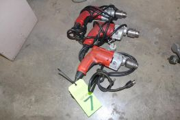 """Lot of 3 Milwaukee 1/2"""" V.S. Electric Drill Motors"""