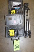 Lot of 2 Blazer Rotary Laser Levels & Tripod