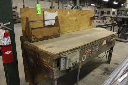 Wooden Workbench w/ Pattern Makers Vise