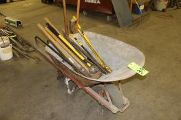 Wheelbarrow w/ Sledge Hammers & Pry Bars