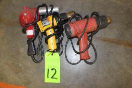 Lot of 3) Electric Heat Guns