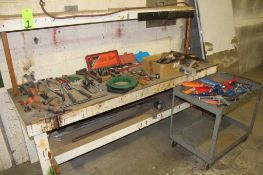 Workbench w/ Vise & Assorted Hand Tools