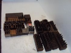 Lot of 14 Incomplete Hand Stamp Sets