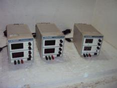 Lot of 2 model 1705 & 1710 BK Precision Adjustable DC Power Supplies