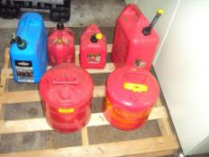 Lot of 6 Plastic and Safety Cans