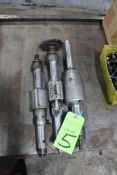 Lot of 3) Straight Pneumatic Grinders