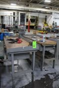 Lot of 2) Lyon 6' Wood Surface Workbenches