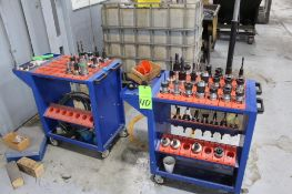 Lot of 2) Tool Carts w/ BT40 Toolholders