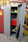 2 Door Supply Cabinet w/ Contents