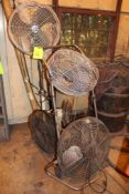Lot of 5 Fans (Condition unknown)