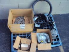 Assorted Hydraulic Hose, Stainless Steel Conveyor Chain and SS Wire Trough