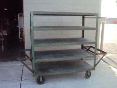 5 Tier Jesco Heavy Duty Shop Cart