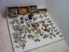 Assorted Hydraulic Fittings Elbows and Tees