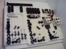 Assorted Starrett Work Support Screw Jacks & Adapters in Nylon Trays