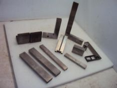Lot Machinist Squares, Angle Plates & Precision Steel