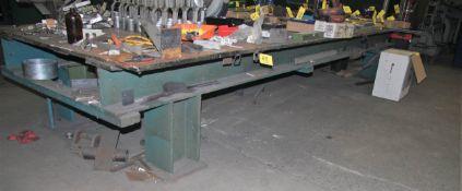 """6' X 212"""" X 1"""" Steel Welding Table ( No Contents)"""