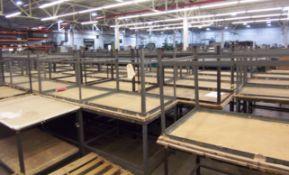 (10) STEEL LEG WORK TABLES
