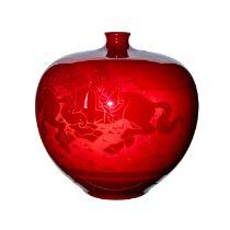 Royal Doulton Flambe Vase, Hunting Scene