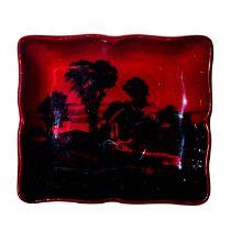 Royal Doulton Flambe Pin Tray, Landscape, Noke