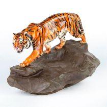 Royal Doulton Prestige Figurine, Tiger On A Rock HN2639
