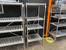 STAINLESS STEEL 4 TIER CATERING SHELVING UNIT