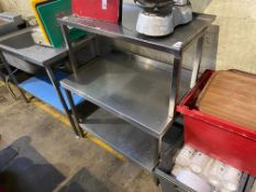 3 TIER STAINLESS STEEL BENCH