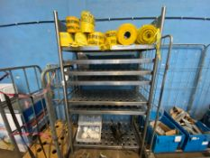 6 TIERED STAINLESS STEEL KITCHEN SHELVING