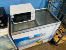 CARAVELL GLASS-TOPPED CHEST FREEZER (WORKING)