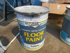 20L TUB FLOORMASTER FLOOR PAINT - YELLOW