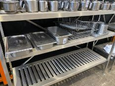 JOB LOT OF (THIRD SHELF) CATERING EQUIPMENT