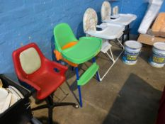 5X BABY HIGHCHAIRS