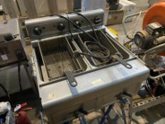 COUNTER TOP DOUBLE ELECTRIC FRYER (WORKING)