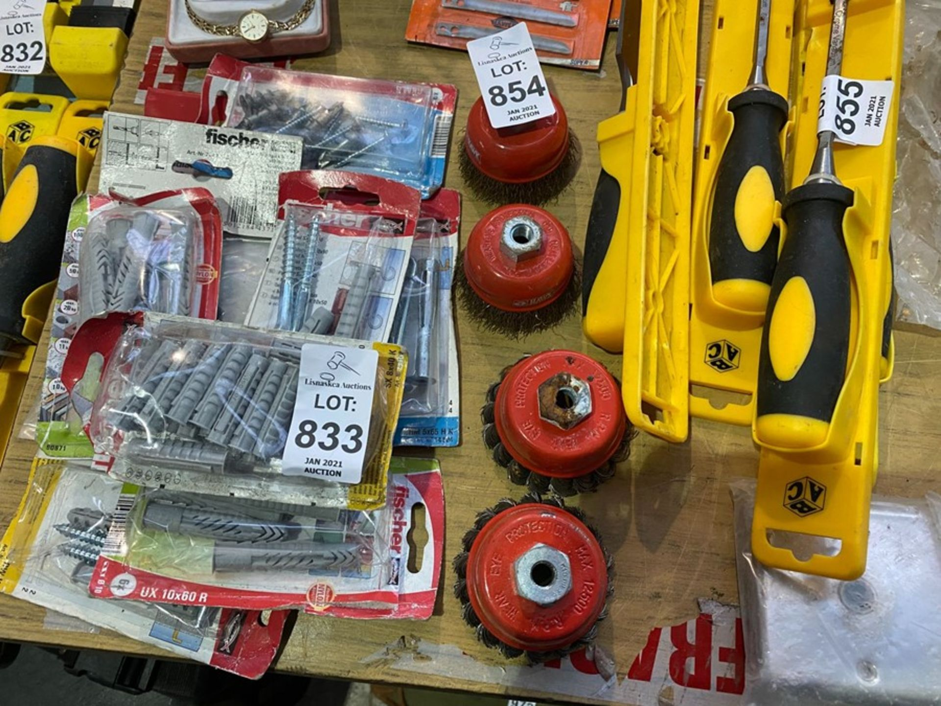 LOT OF 4 ROTARY WIRE BRUSHES
