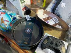 2 MASTERCLASS SPRING FORM CAKE TINS AND A FOOTBALL PAN