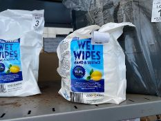 PACK OF 250 SHEETS OF ANTIBACTERIAL WET WIPES