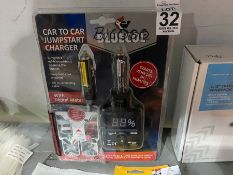 BLUECOL CAR TO CAR JUMPSTART CHARGER WITH DIGITAL METRE (NEW)