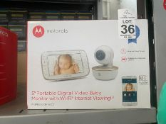 "MOTOROLA 5"" PORTABLE DIGITAL VIDEO BABY MONITOR"