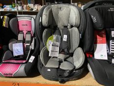 KINDERKRAFT SAFETY-FIX CAR SEAT (GROUP 1, 2 & 3) (19-36KG) (NEW)