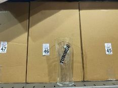 BOX OF 24 NEW TUBORG PINT GLASSES
