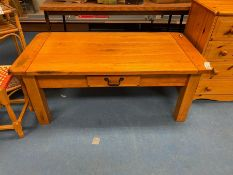 LARGE PINE COFFEE TABLE WITH DRAWER