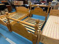 """4'6"""" DOUBLE SOLID PINE BED FRAME"""