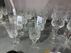 4 CUT GLASS GLASSES