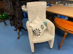 STONE PATTERNED FABRIC LADIES BEDROOM CHAIR