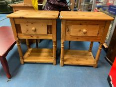 """2 SOLID PINE ONE DRAWER UNITS HEIGHT 30"""""""