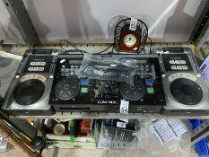 GEMINI CDM-500 CD MIXER WITH 2 NUMARK MIXERS